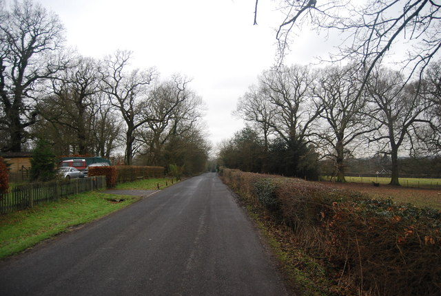 Road to Chiddingstone from the east