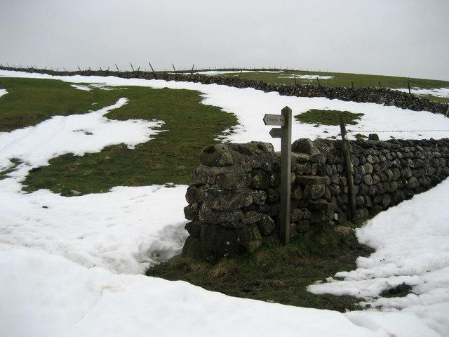 Pennine Way Fingerpost near Stangill Barn