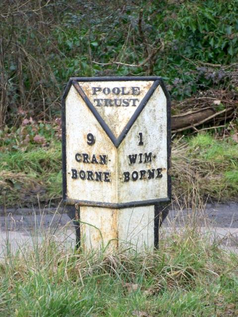 Milepost near Clapgate