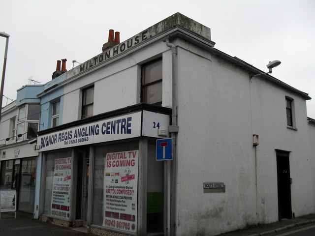 Bognor Regis Angling Centre at the junction of West and Scott Streets