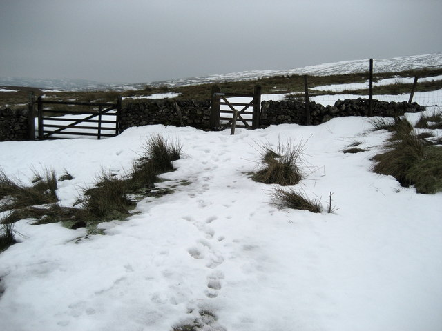 Winter on the Flanks of Fountains Fell