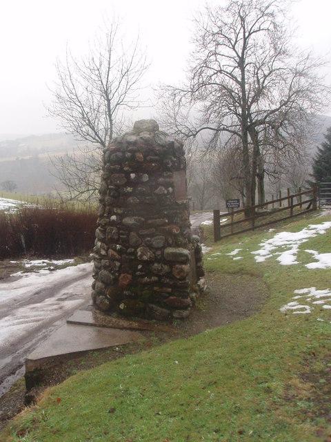 Scott Memorial near Glackburn, Glen Prosen