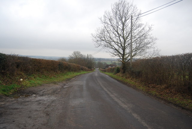 Lane south of The Triangle, Chiddingstone