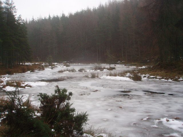 Frozen Lochan north of Mile Hill