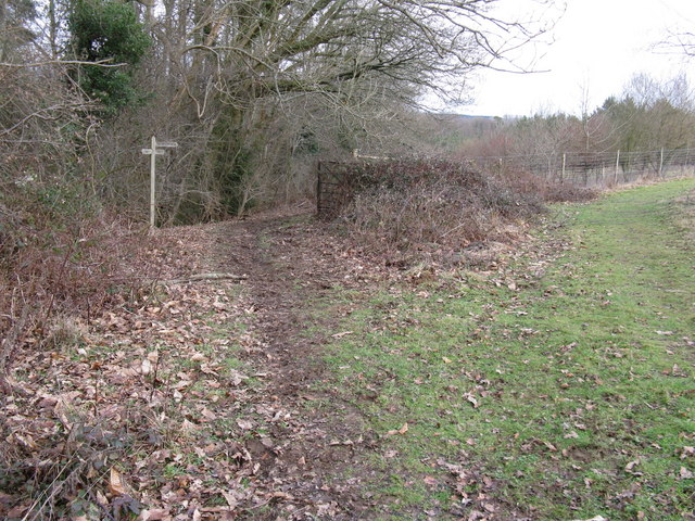 Footpath and bridleway junction