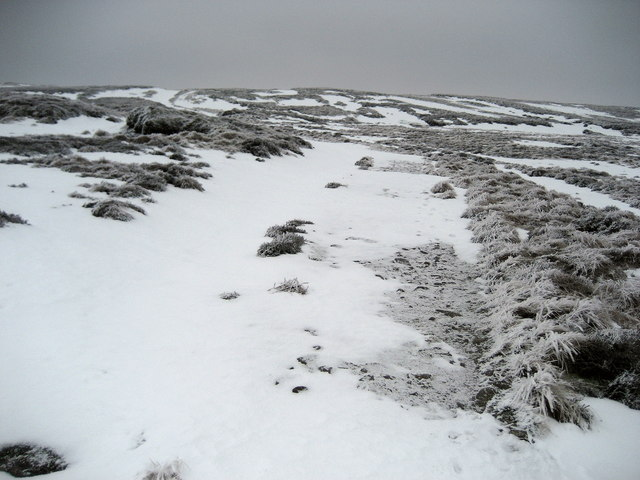 Winter's Grip on Fountains Fell