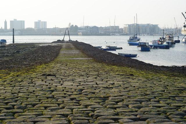 Slipway in Portsmouth Harbour