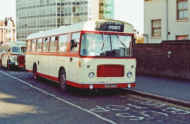 Hastings & District bus no. 466 (Bristol RE)