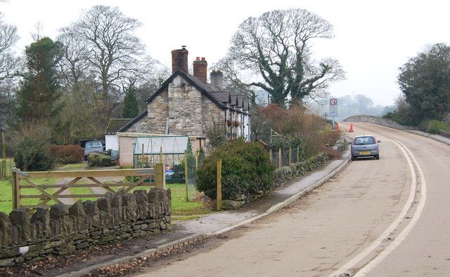 Cottages beside the route of the old A5