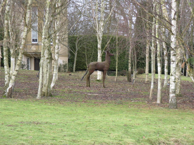 Stag sculpture in the grounds of the Deer Tower