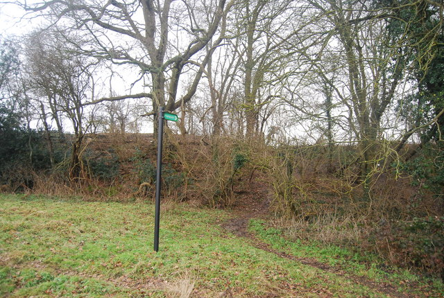 Footpath signpost, Vexour