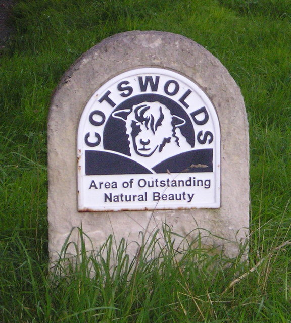 Cotswolds: AONB Sign