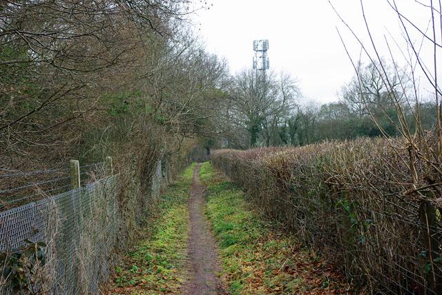 Footpath beside railway