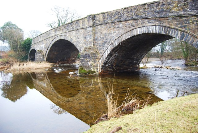 The old stone built A5 bridge