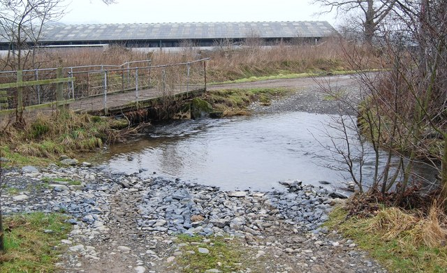 Taith Clwyd crosses a stream by ford