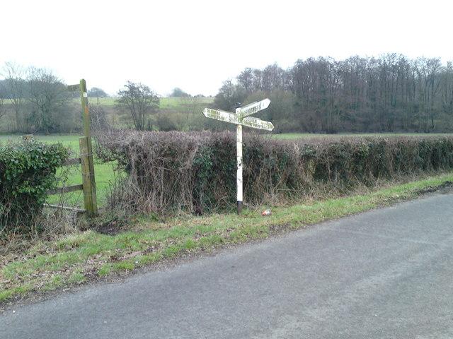 Pigeon House Lane  junction  Pitymoor Lane.