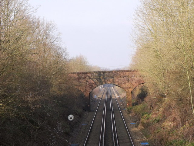 Railway bridge over the London to Hastings line at Stonegate