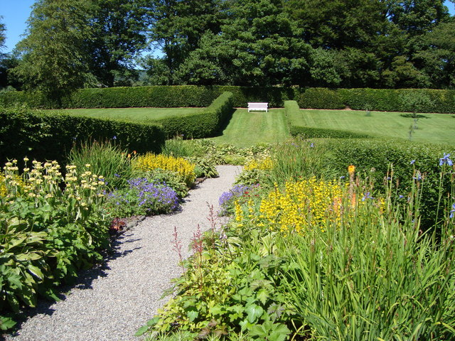 Herbaceous border in the Kitchen Garden at Geilston House