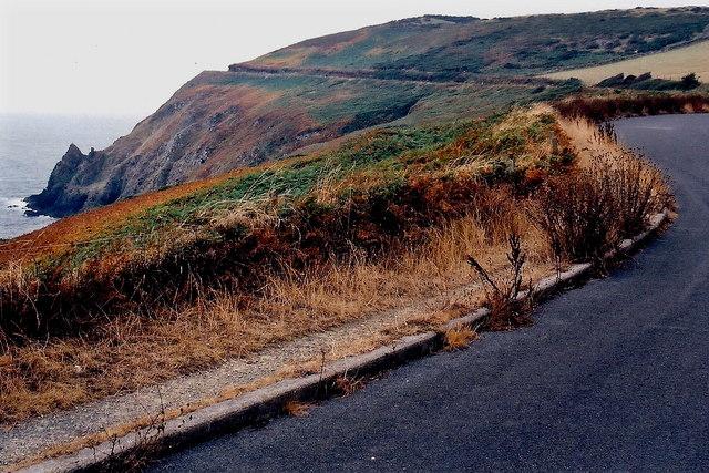 Douglas - Irish Sea, Marine Drive, and farm field