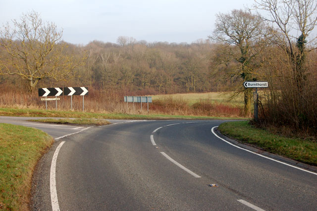 Junction of Burnthurst Lane and B4453 near Princethorpe