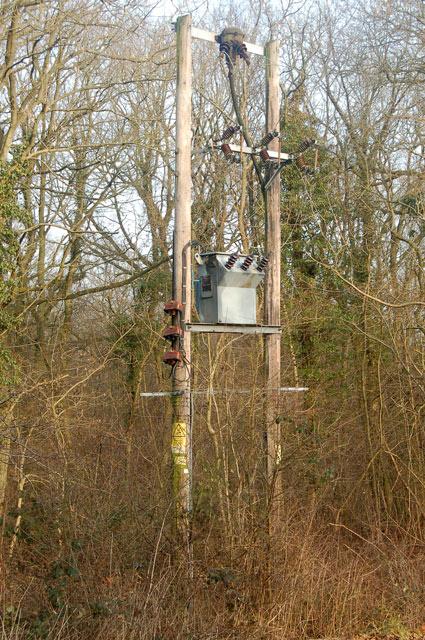 Electricity transformer beside Burnthurst Lane