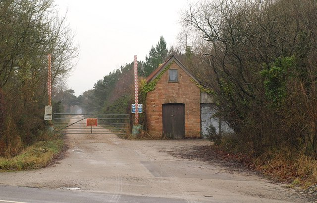 Entrance to clay pit, Furzebrook