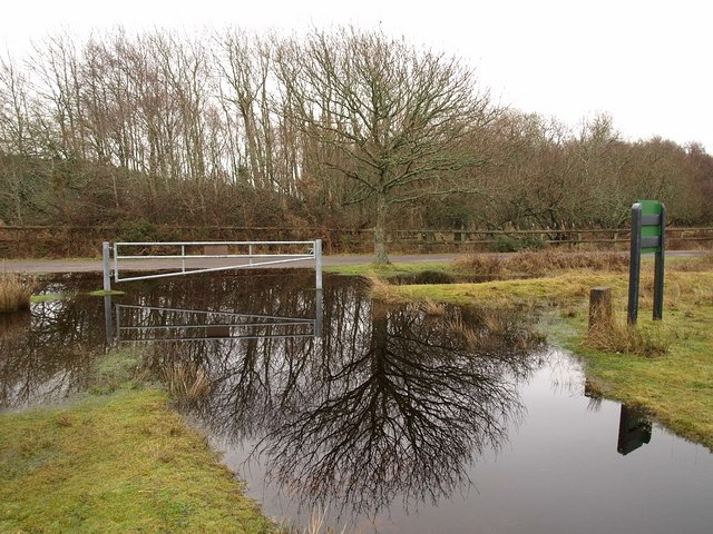 Large puddle by Soldiers Road