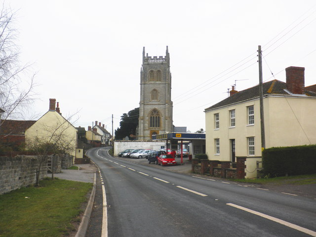 East Lyng, from the west