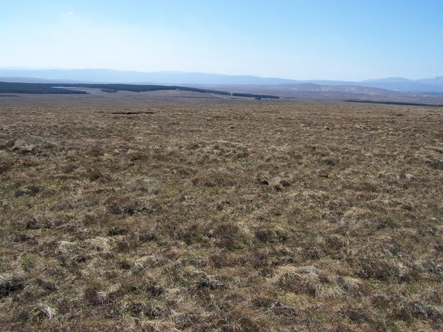Barren moorland landscape on the SW flank of Cnoc Sgriodain