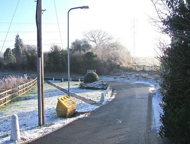 Road from Hinksford Bridge