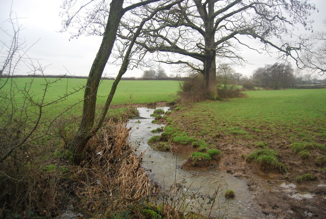 Small stream by the path to Beckett's Farm
