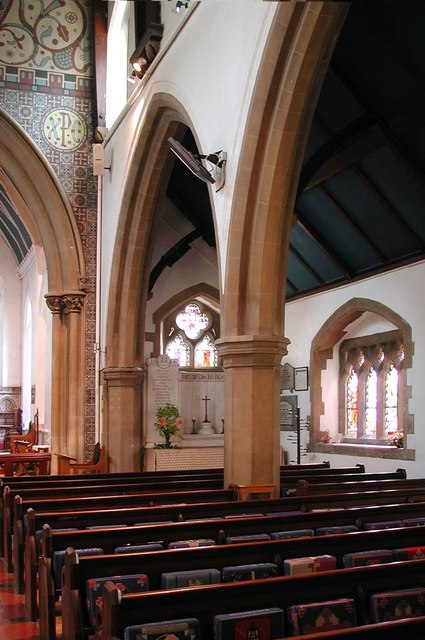 All Saints, Harrow Weald, Middlesex  - South arcade