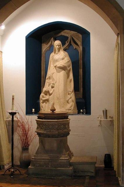 All Saints, Harrow Weald, Middlesex  - Statue