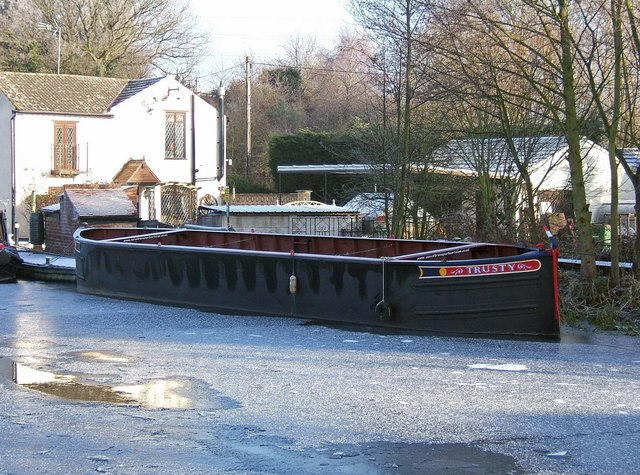 """""""Trusty"""" - a working canal carrying boat"""