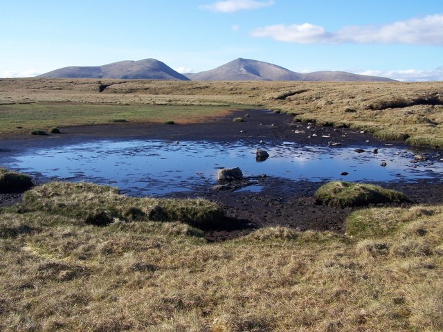 A peaty lochan - the source of the River Brora.