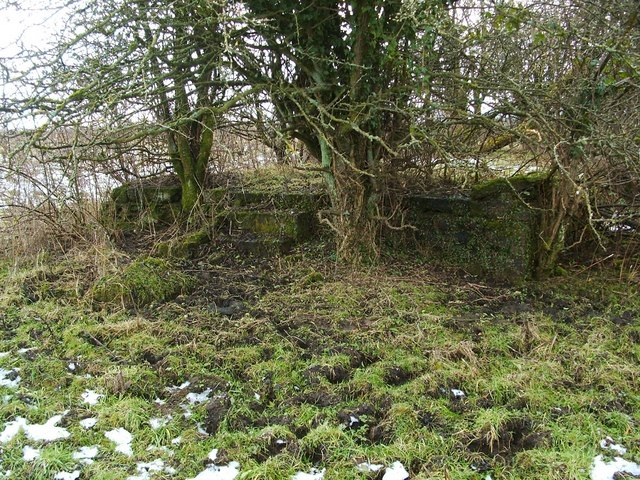Structure associated with WWII gun emplacements