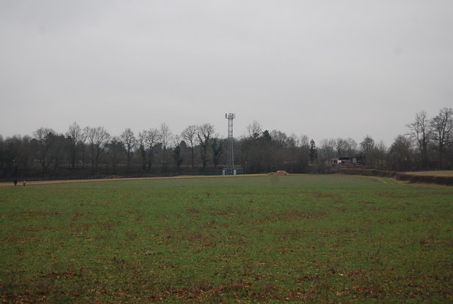 Telecommunications mast by the railway line
