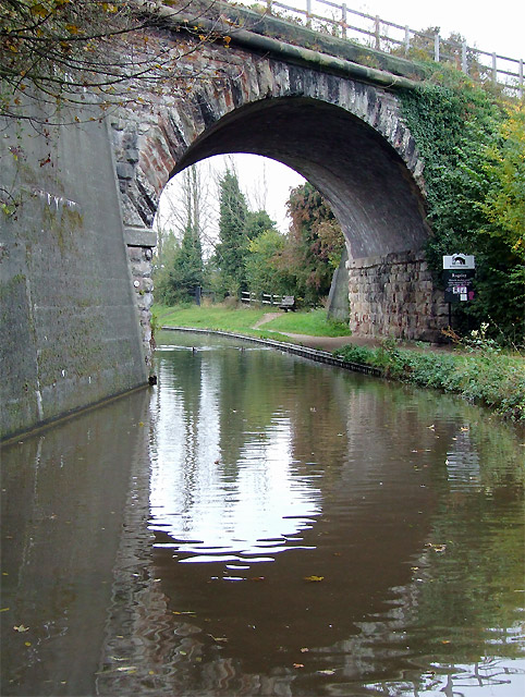 Bridge over the Trent and Mersey Canal at Rugeley, Staffordshire