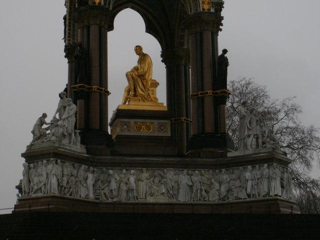 Close-up of the Albert Memorial