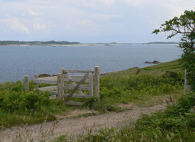 Gate on footpath, The Garrison, St Mary's, Scilly