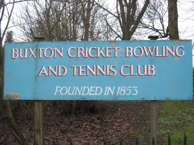 Sign outside Buxton Tennis Club