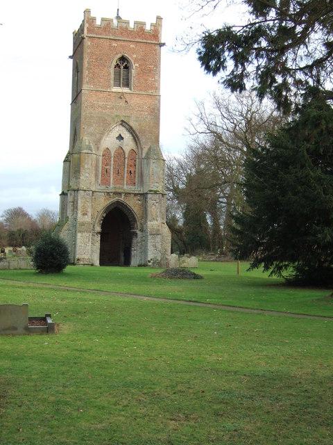 Tydd St Giles church tower