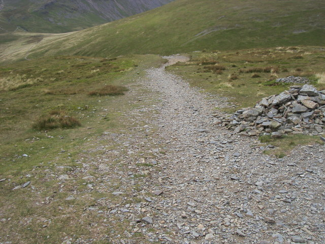 Footpath down to Coledale Hause