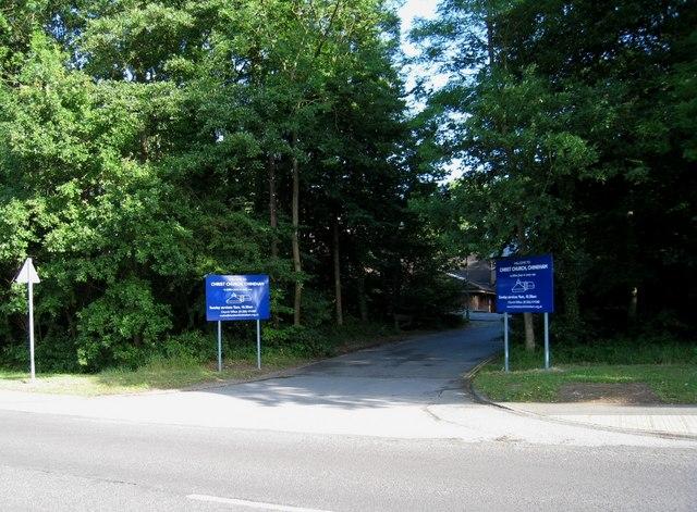 Entrance to Christ Church, Chineham