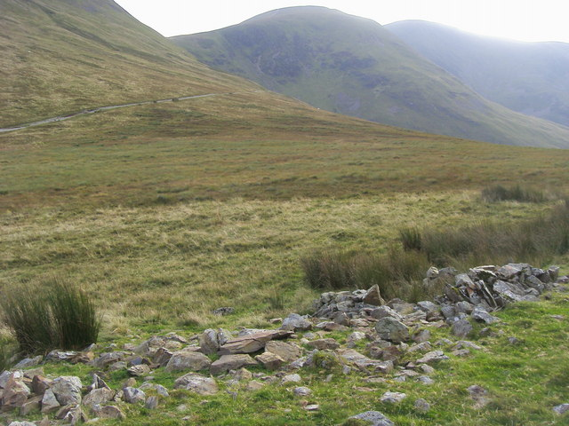 Looking to footpath across High Moss
