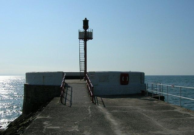 Navigation Marker, End of East Looe Pier