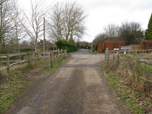 Cattle grid at entrance to Shillinglee Park