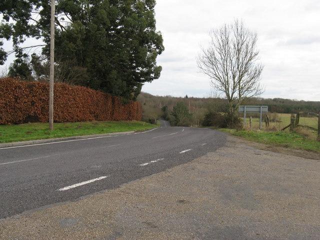 Looking east along Shillinglee Road towards Plaistow