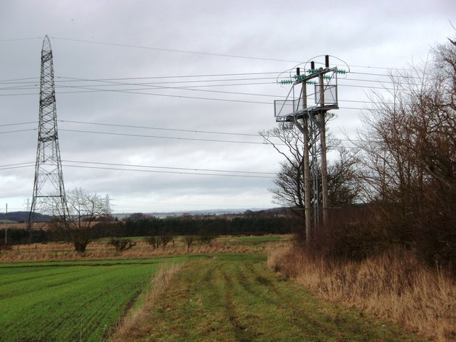 Pylons near Chair Lane