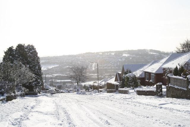 Bents Lane Coal Aston looking across to Hilltop